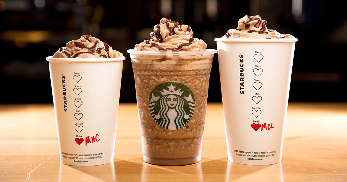 Free drinks are available with Starbucks coupons