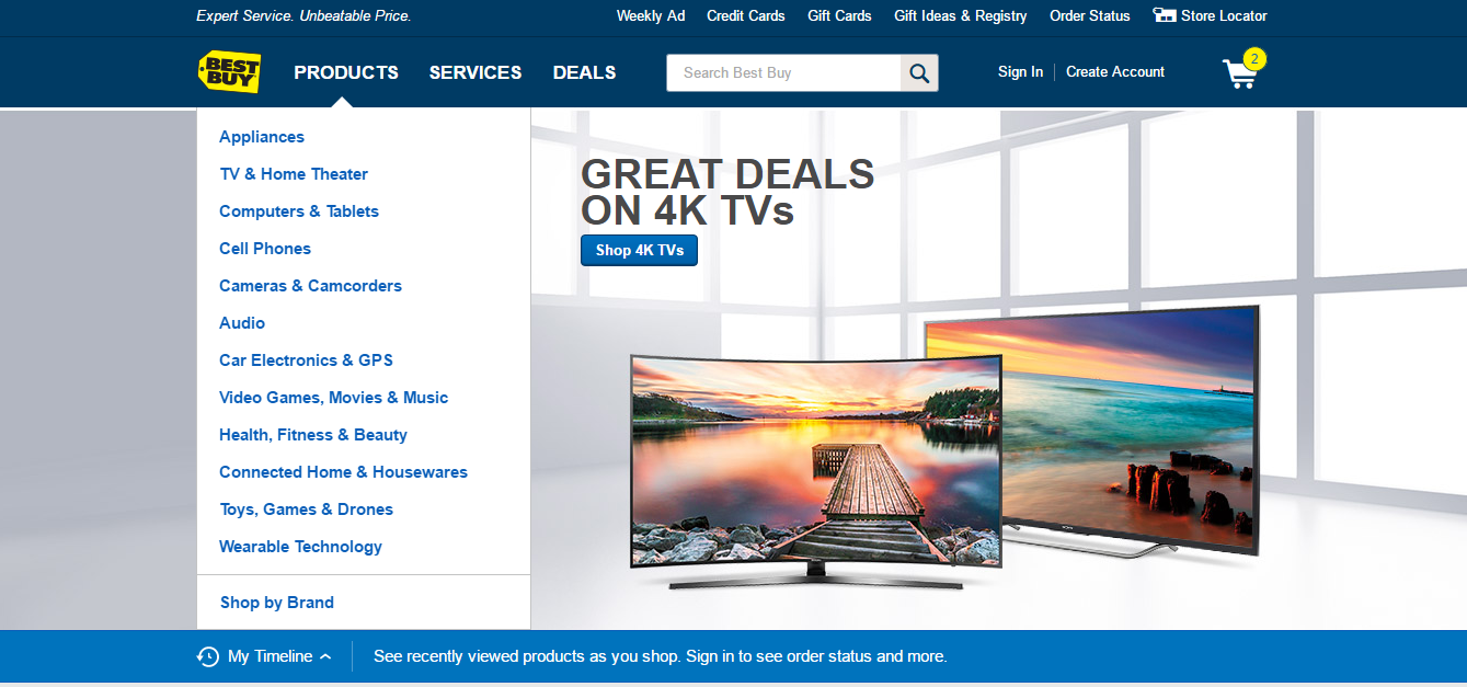 Best Buy home page