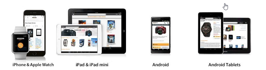 Use Amazon on tablet and iphone